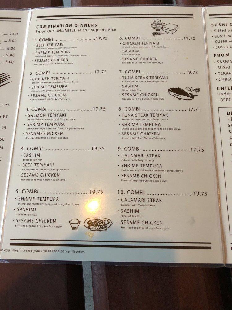 taiko menu 1